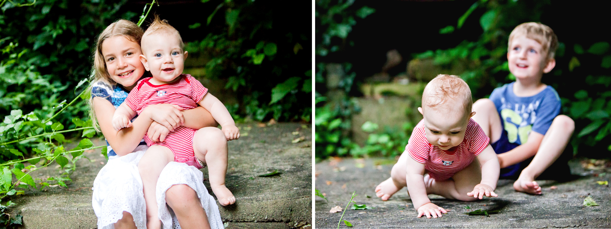 Baby on the rock portraits