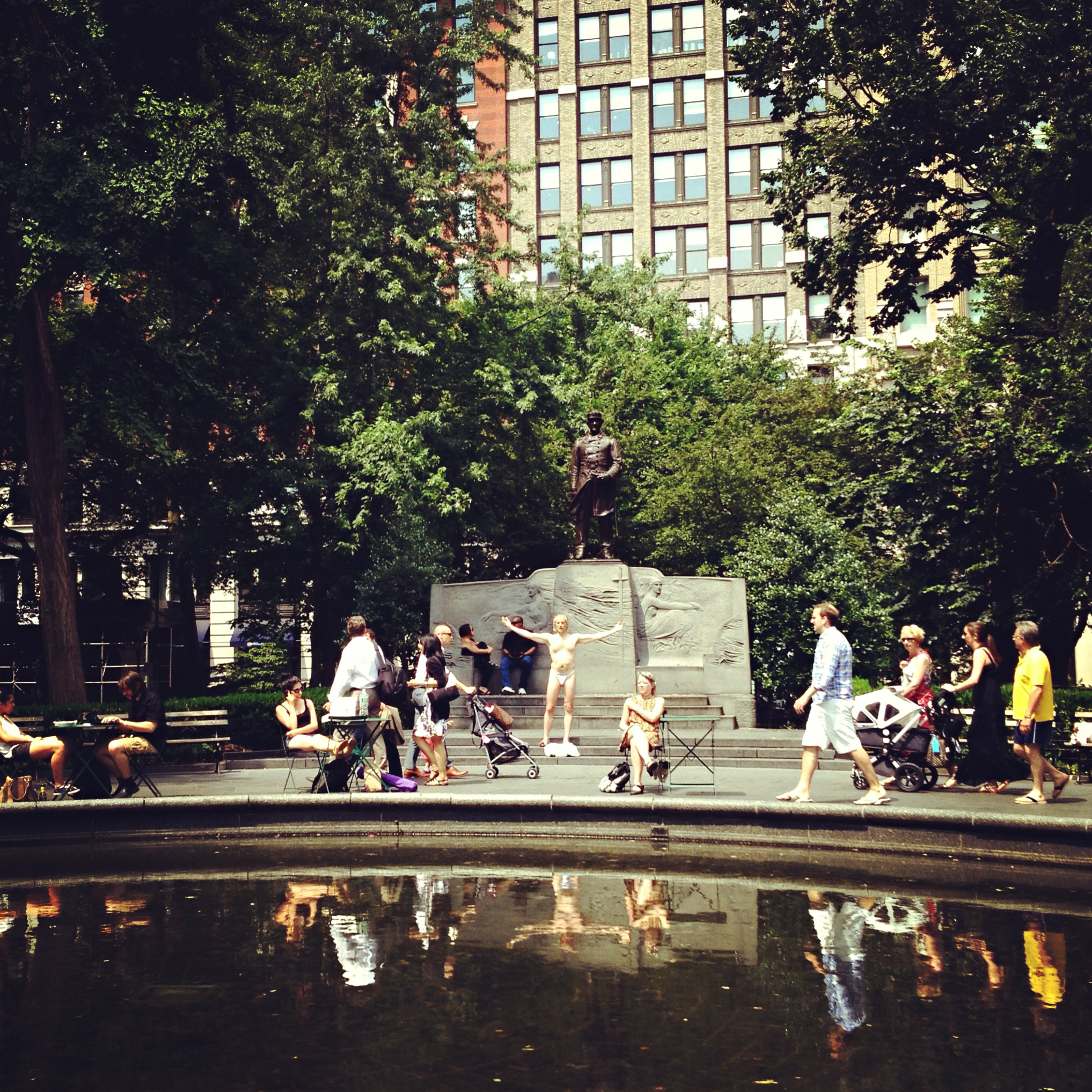 Madison Square Park, lunchtime