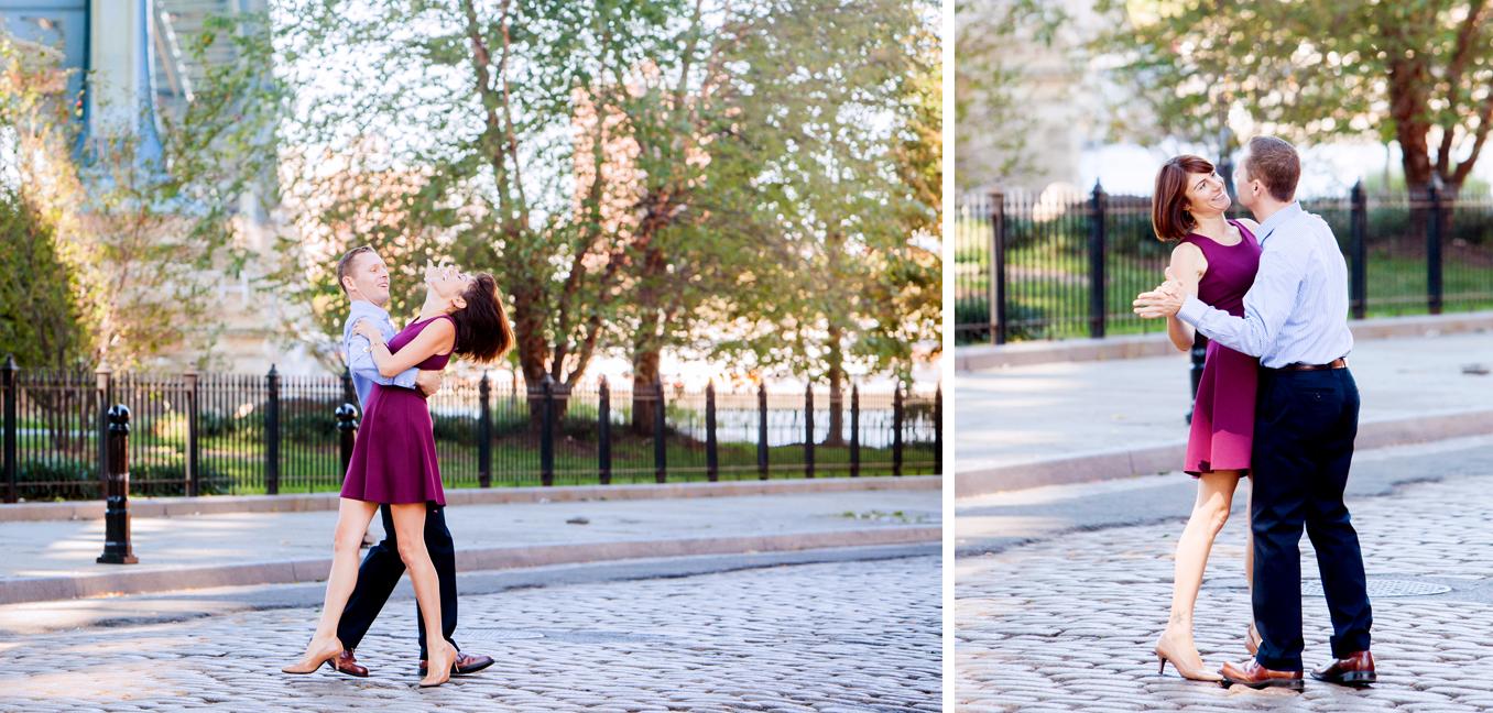 dancing under Manhattan Bridge